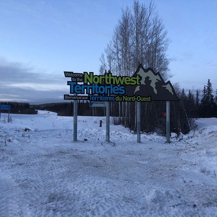 NWT Welcome Sign